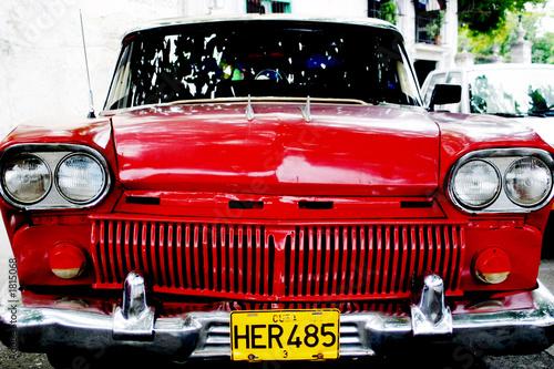 Deurstickers Cubaanse oldtimers classic american car