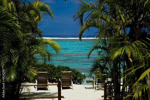Fotografie, Obraz  rarotonga beachfront