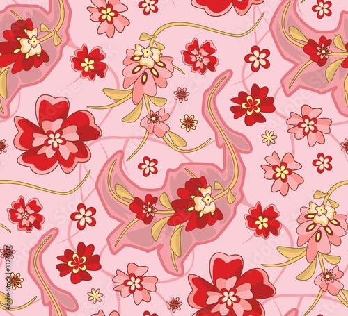 Foto-Stoff bedruckt - seamless floral wallpaper pattern (von artzone)