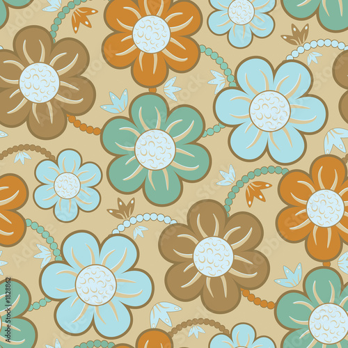 Foto-Stoff bedruckt - seamless wallpaper pattern (von artzone)