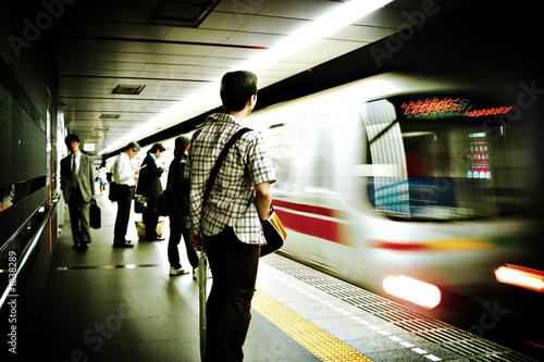 Fotobehang Tokyo tokyo subway