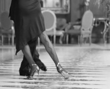 Couple Dancing Tango At A Hotel Lobby