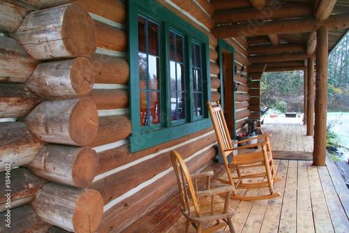 Photo log cabin deck