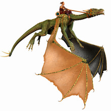 Dragon And Rider Flying
