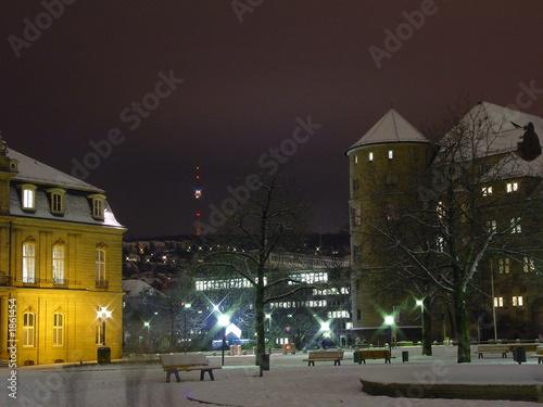 Stuttgart Bei Nacht Buy This Stock Photo And Explore Similar