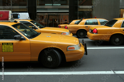 Foto op Canvas New York TAXI taxi traffic