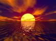 sunset and sunbeam