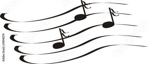 Fototapeta notes a treble clef