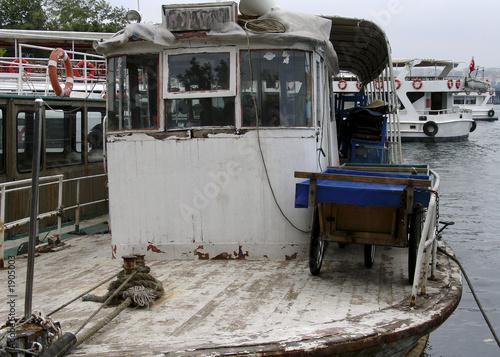 old fishing vessel Canvas Print