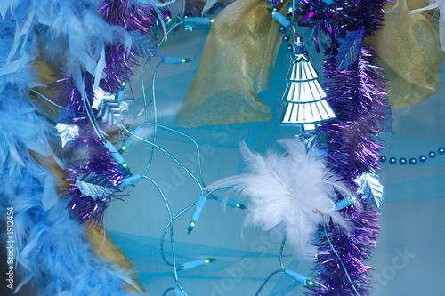 décoration bleutée