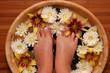 Leinwanddruck Bild pampered feet