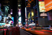 Time Square At Night In Nyc
