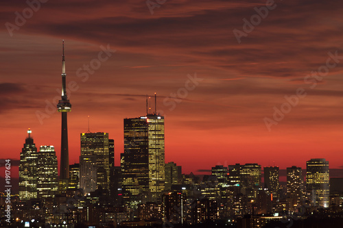 sunset downtown toronto