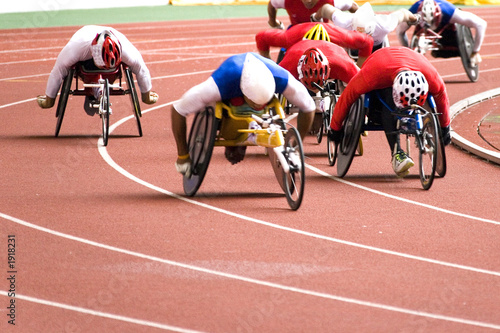 Fotografiet  wheel chair race for disabled persons