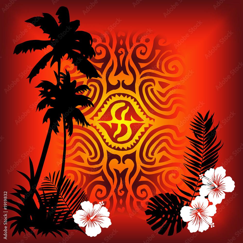 Foto-Stoff bedruckt - red tatoo