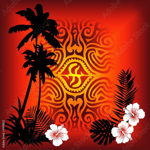 einzelne bedruckte Lamellen - red tatoo (von Maceo)