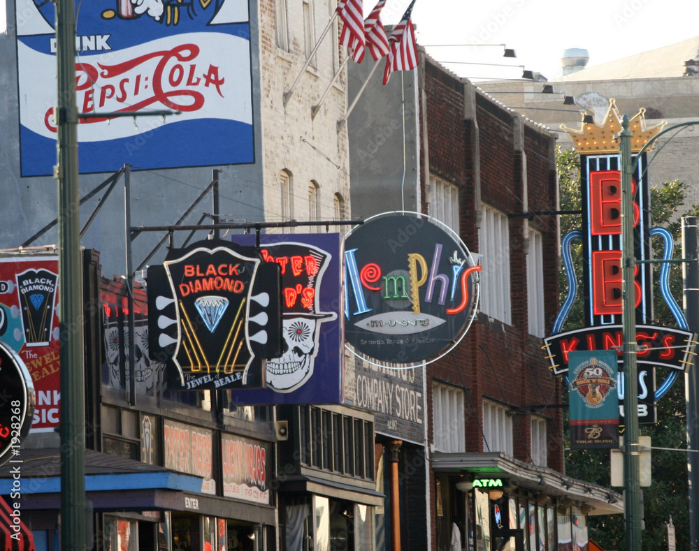 Fototapeta downtown memphis, the blues