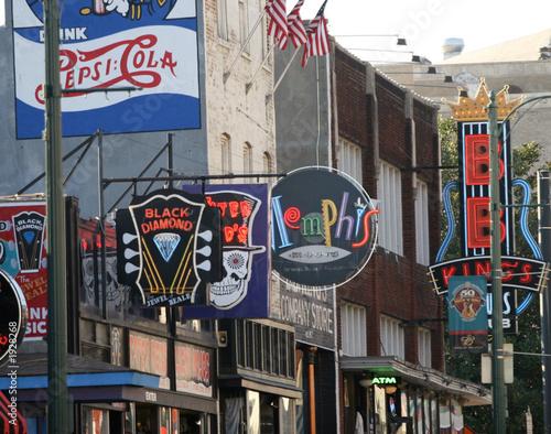 Photo downtown memphis, the blues