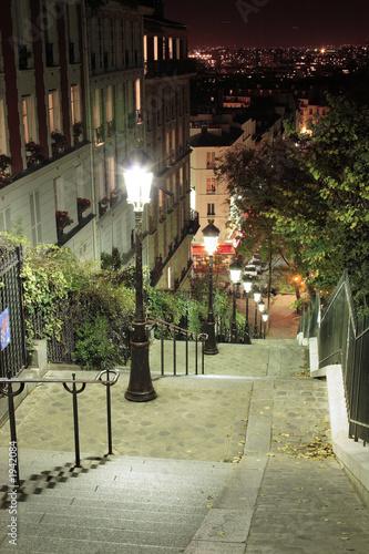 Obrazy Paryż  schody-do-paryskiego-montmartre