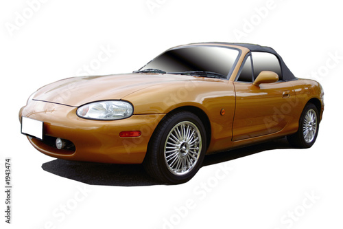 Spoed Foto op Canvas Snelle auto s gold sports car