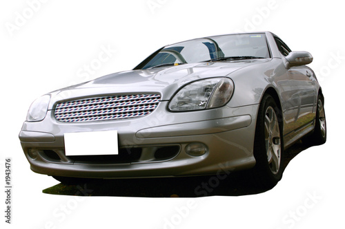 Spoed Foto op Canvas Snelle auto s silver sports car