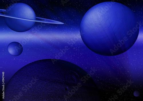 Cadres-photo bureau Violet galaxie