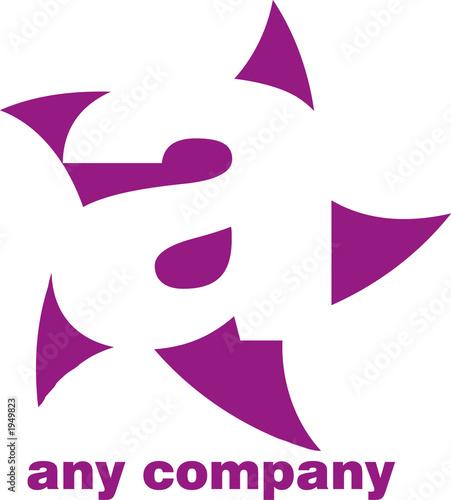 a - alphanumeric logo design Canvas Print
