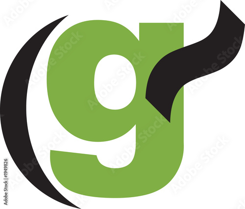 g - alphanumeric logo Canvas Print