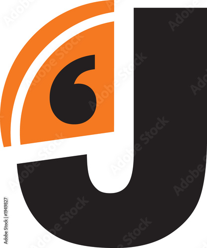 j - alphanumeric logo Canvas Print