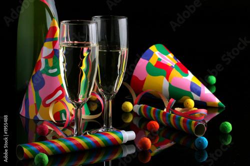 Obraz na plátně cotillons et champagne