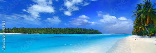 Poster Tropical plage panoramic lagoon iii
