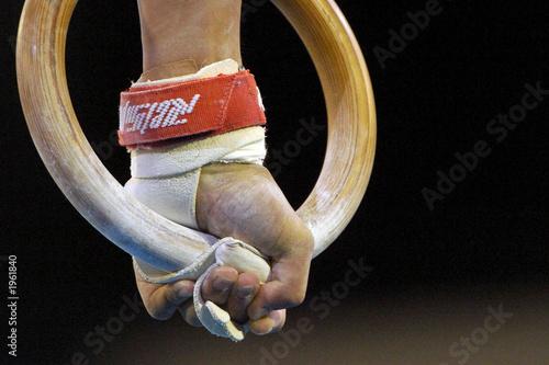 Tuinposter Gymnastiek gymnastic rings