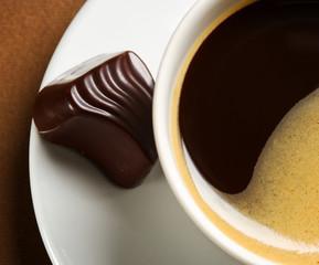 Panel Szklany Do kawiarni caffee and chocolate