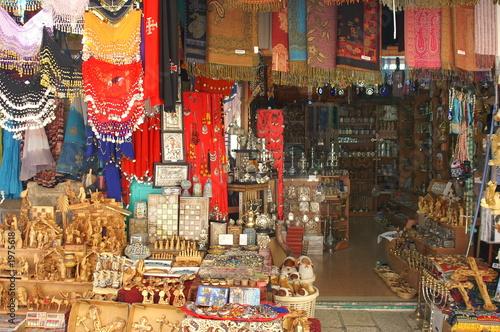 Poster Maroc christian symbols in the jerusalem east market