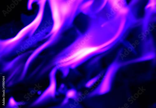 Photo feu flamme bleu violet