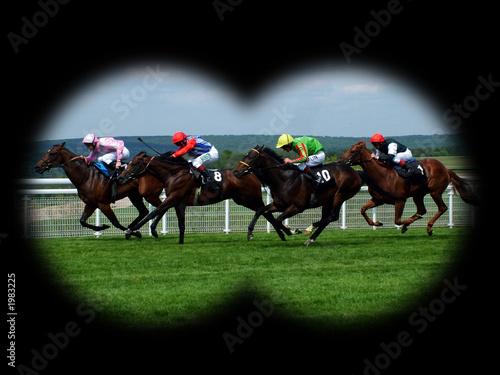 horse race Fototapeta