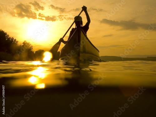 Obraz na plátně kanu mit sonne