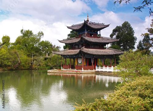 Tuinposter China a scenery park in lijiang china