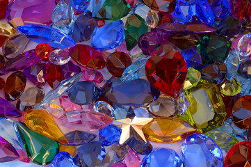 Panel Szklany Do jubilera pile of gems