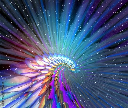 kolorowa-droga-do-kosmosu-na-tle-bialych-gwiazd