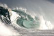 canvas print picture - hollow breaking wave