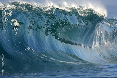 Foto auf Gartenposter Wasser giant wave breaking