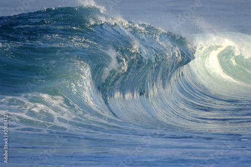 Deurstickers Water breaking wave