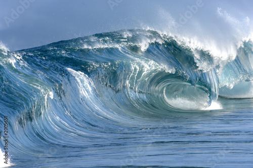 Deurstickers Water giant perfect hollow wave breaking