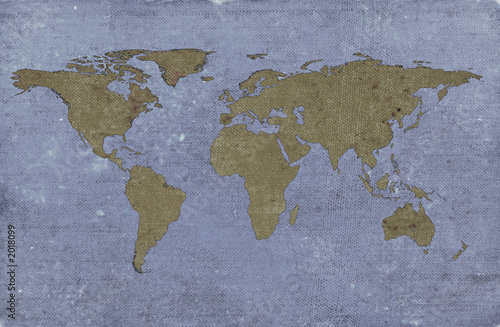 In de dag Wereldkaart grungy textured world map