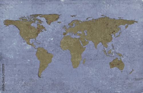 Tuinposter Wereldkaart grungy textured world map