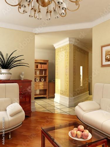 Fényképezés  3d classic interior
