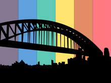 Sydney Harbour Bridge Rainbow Flag