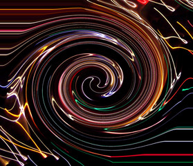 Plakat caught in the vortex