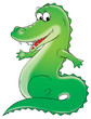 Leinwandbild Motiv green crocodile